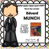 Edvard Munch Activities - Famous Artist Biography Art Unit