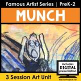 Edvard Munch Project-Based Art Unit for Famous Artist Series in PreK-2