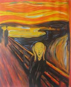 Edvard Munch- The Scream; Halloween writing/art project