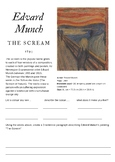 Edvard Munch The Scream Worksheet