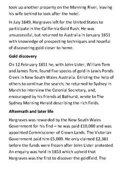 Edward Hargraves Handout
