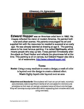 Edward Hopper Art Appreciation Lesson Plan