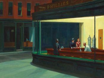 "Edward Hopper - ""The Nighthawks"" Painting Recreation"