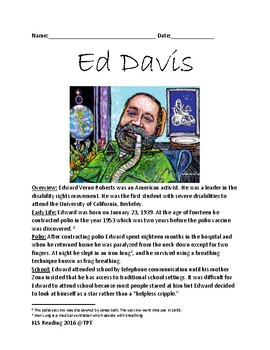 Edward Roberts - Disability Activist life story lesson facts questions