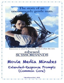 Edward Scissorhands ~ Movie Questions & Extended Response Prompts