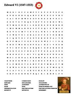 Edward VI Word Search