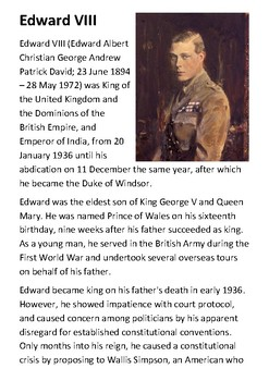Edward VIII Handout