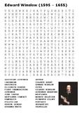 Edward Winslow Word Search