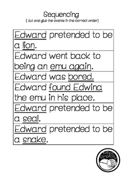 Edward the Emu ~ A week of reading activities