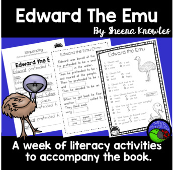 Edward The Emu A Week Of Reading Activities By Miss border=