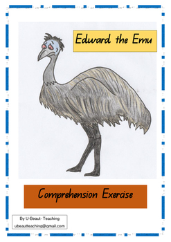 Edward the Emu by Sheena Knowles Comprehension Exercise