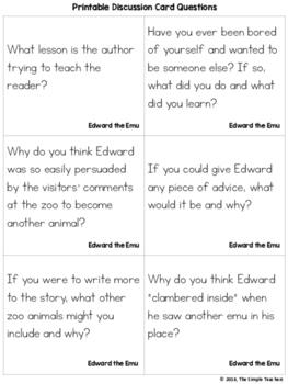 Edward the Emu - Predict and Summarize Comprehension Lesson Plan