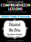 Edward the Emu - Predict and Summarize Comprehension Lesson Plan