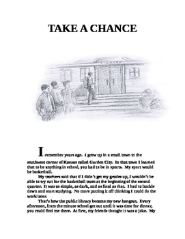 Edwards ~ Take a Chance COMMON CORE WORKSHEET & Text