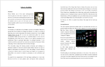 Edwin Hubble - A Famous Scientist Reading