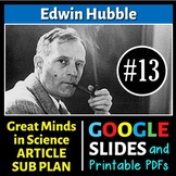Edwin Hubble - Science Article/Sub Plan #13 | Printable & Distance Learning