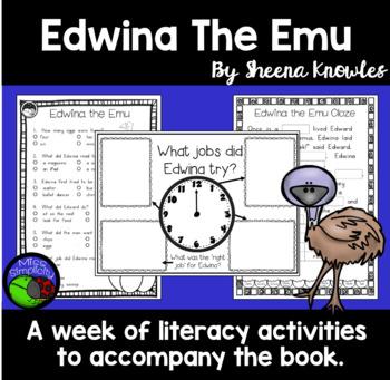 Edwina the Emu ~ A week of reading activities