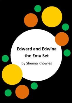 Edward and Edwina the Emu by Sheena Knowles - 4 Worksheets - 25% Saving