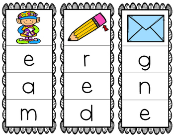 Initial/Beginning Sound Clip Cards: Ee