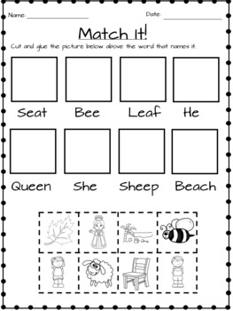 Ee, Ea, and E Worksheets