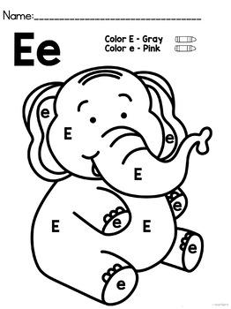 Letter E { Alphabet Practice }