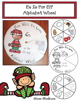 Alphabet Crafts: Alphabet Activities: Ee is for Elf Alphabet Wheel