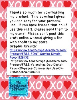 Valentine's Day Craft FREE {Mouse's First Valentine Book Companion}