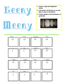 Eeeny Meeny Poem/Composition Activity with Orff Instruments and Boomwhackers pdf
