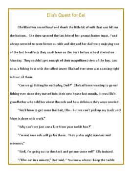 Eels and Sea Snakes - Fiction and Non-Fiction Reading for Grades 5-6