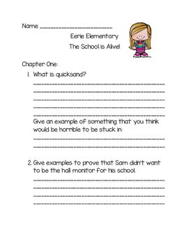 Eerie Elementary The School Is Alive Comprehension Questions