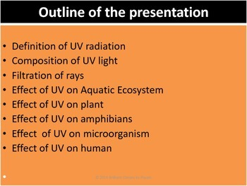 Effect of UV radiation on biological organisms and how do they protect?