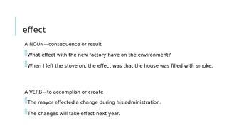 Effect/Affect PowerPoint