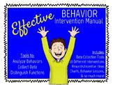 Effective Behavior Intervention Manual, PBIS & RtI Friendl