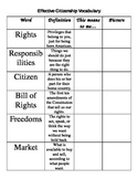 Effective Citizenship Bill of Rights Vocabulary