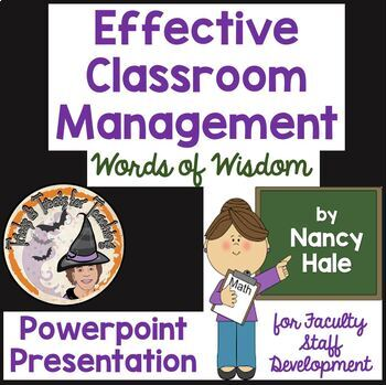 Effective Classroom Management Powerpoint Presentation Discipline Behavior