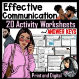 Effective Communication Activity Worksheets and ANSWER KEY