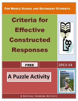 Effective Constructed Responses:  Critical Thinking Sudoku