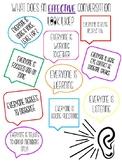 Effective Conversation Anchor Chart