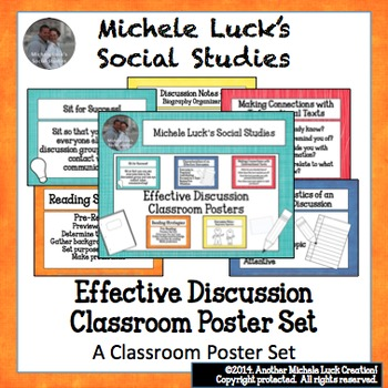 Effective Discussion Classroom Poster Set for Bulletin Board or Word Wall