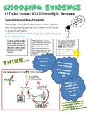 Effective Evidence Choices / Citing Evidence Writing Tool