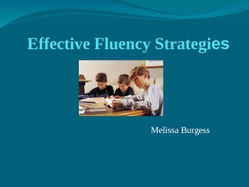 Effective Fluency Strategies