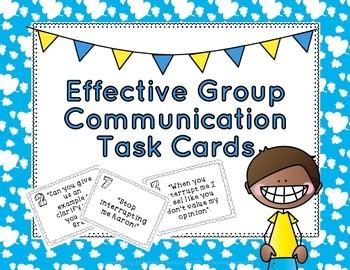 Effective Group Communication Task Cards