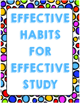 Effective Habits  for Effective Study Posters