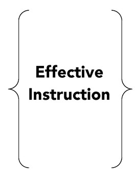 Effective Instruction (Time fillers, early finishers, rainy day games, etc.)