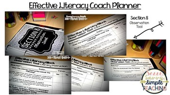 Effective Literacy Coach Planner