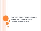 Effective Note-taking from Textbooks Presentation