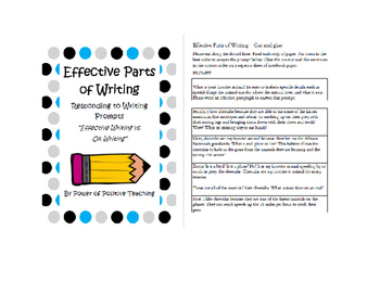 Effective Parts of Writing - Organization