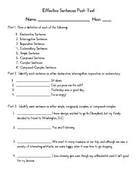 Effective Sentences Assessment