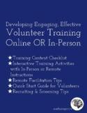 Effective Volunteer Training... Online or In Person (Resou