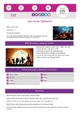 """Interactive lesson for study. Case """"Halloween"""""""
